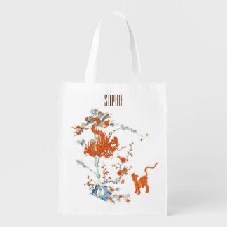 Kakiemon Dragon Tiger 1775 Reusable Grocery Bag