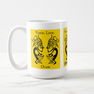 Kakilambe Drum (on Yellow) Mug