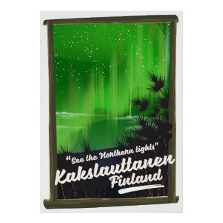 Kakslauttanen finland travel poster