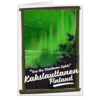 Kakslauttanen finland travel poster card