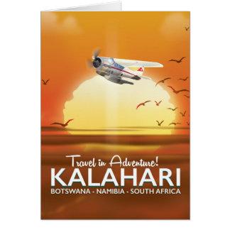 Kalahari Desert Adventure travel poster Card