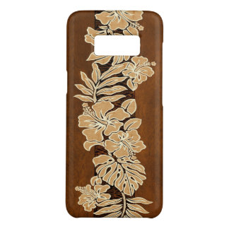 Kalaheo Hawaiian Hibiscus Tapa Faux Koa Wood Case-Mate Samsung Galaxy S8 Case