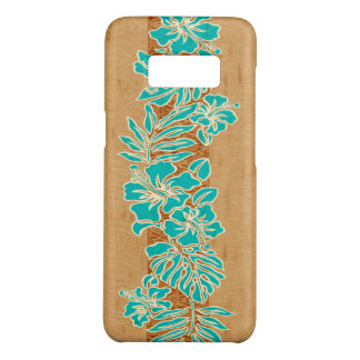 Kalaheo Hawaiian Hibiscus Tapa Faux Wood Case-Mate Samsung Galaxy S8 Case