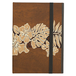 Kalaheo Hawaiian Hibiscus Tapa Faux Wood iPad Air Cover For iPad Air