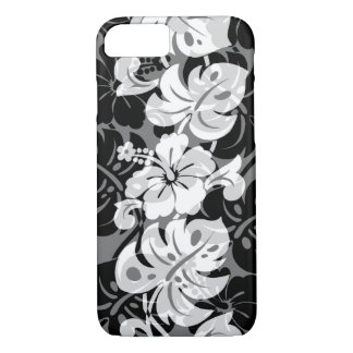 Kalakaua Border Hawaiian Hibiscus Black iPhone 8/7 Case
