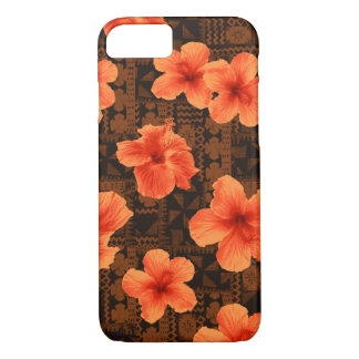 Kalalau Tapa Tropical Hawaiian Hibiscus iPhone 8/7 Case