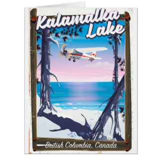 kalamalka lake, British Columbia Canada Card