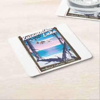 kalamalka lake, British Columbia Canada Square Paper Coaster