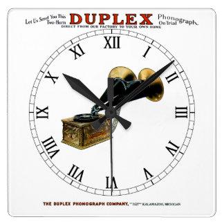 Kalamazoo Duplex Antique Phonograph Wall Clock