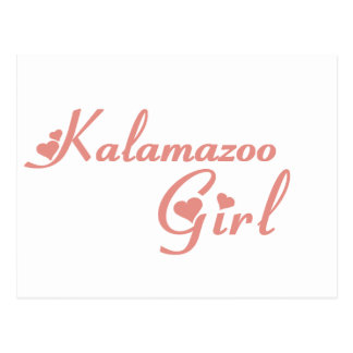 Kalamazoo Girl tee shirts Postcard