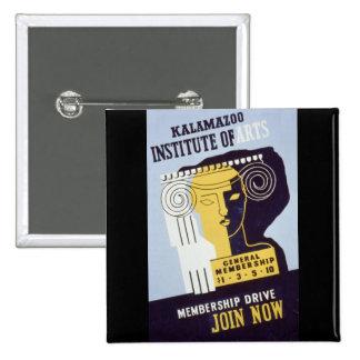 Kalamazoo Institute of Arts  - WPA Poster - Pin