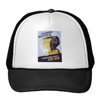 Kalamazoo Institute of Arts  - WPA Poster - Mesh Hat