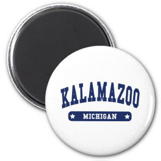 Kalamazoo Michigan College Style tee shirts Magnet