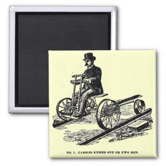 KALAMAZOO Velocipede Railroad Hand Car 1887 Magnet