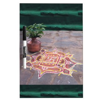 Kalas Vase swastika rangoli indian wedding Symbols Dry Erase Boards
