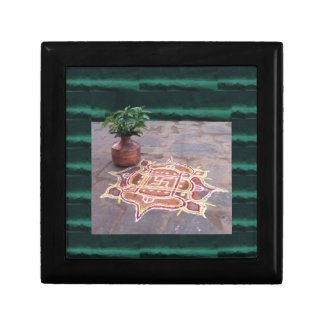 Kalas Vase swastika rangoli indian wedding Symbols Gift Box