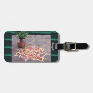 Kalas Vase swastika rangoli indian wedding Symbols Luggage Tag
