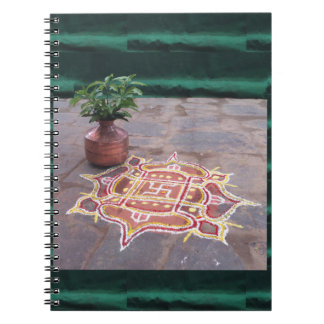 Kalas Vase swastika rangoli indian wedding Symbols Notebook