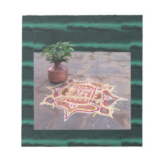 Kalas Vase swastika rangoli indian wedding Symbols Notepad
