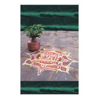 Kalas Vase swastika rangoli indian wedding Symbols Stationery