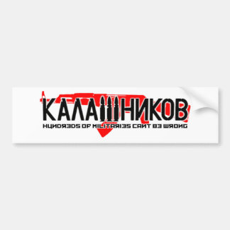 Kalashnikov Ak-47 Car Bumper Sticker