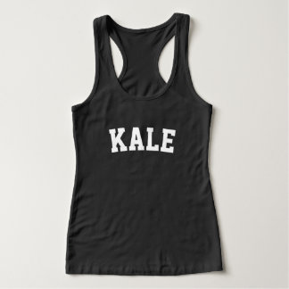 KALE black workout tank top for women