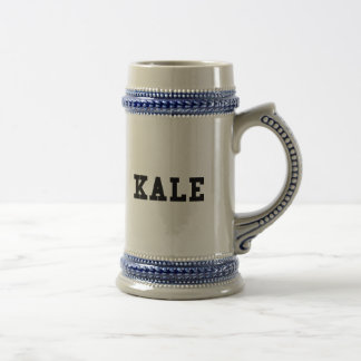 Kale College Font Funny Beer Stein