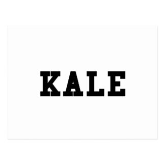 Kale College Font Funny Postcard