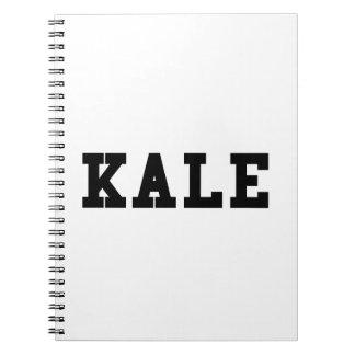 Kale College Font Funny Spiral Notebook