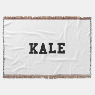 Kale College Font Funny Throw Blanket