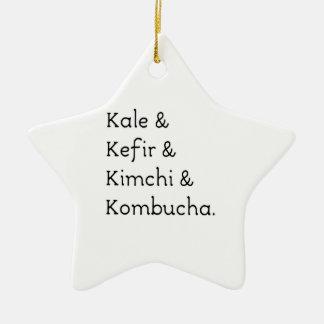 Kale Kefir Kimchi Kombucha Ceramic Star Decoration