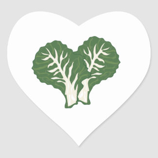 Kale Leaves Heart Sticker