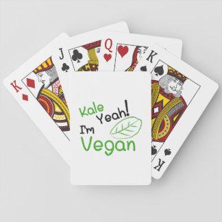 Kale Yeah I'm Vegan Vegetarian Funny Gift Playing Cards