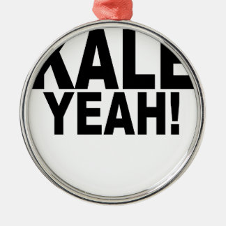 Kale Yeah!.png Silver-Colored Round Decoration