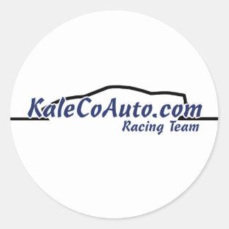 KaleCoAuto Racing Team! Classic Round Sticker