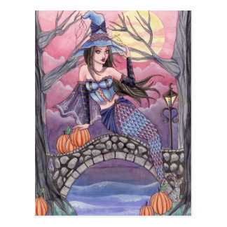 Kalei - Halloween Mermaid Postcard