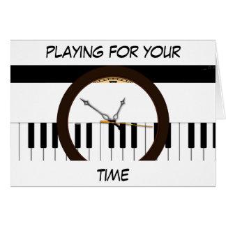 Kaleidescope Musical Clock Card