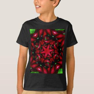 kaleido  flower green and red design T-Shirt