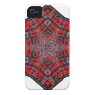 kaleido tribal design black and red iPhone 4 case