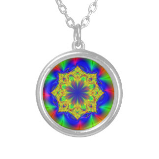 Kaleidoscoope Silver Plated Necklace