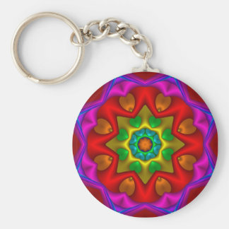 Kaleidoscope 2 basic round button key ring