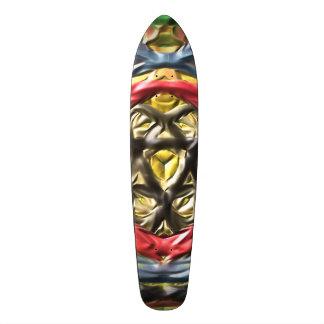 Kaleidoscope abstract colorful pattern skate decks