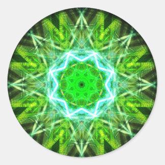 kaleidoscope abstract shape star eye iris science round sticker