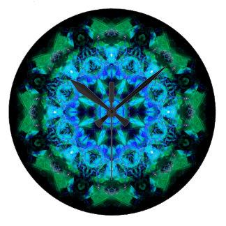 kaleidoscope abstract shape star eye iris science wall clocks