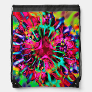 Kaleidoscope Apophysis Fractal Art - I Drawstring Bag