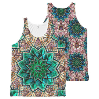 Kaleidoscope Art 40A-40B Options All-Over Print Singlet