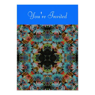 Kaleidoscope Art Psychedelic Daisies Invitation