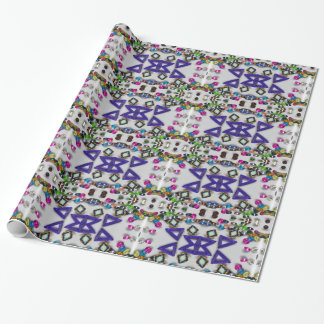 Kaleidoscope beads wrapping paper