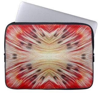 Kaleidoscope Bearded Barbet design Laptop Sleeve