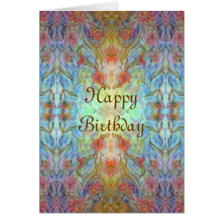 Kaleidoscope Birthday Card